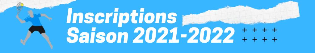 Inscriptions saison 2021 2023